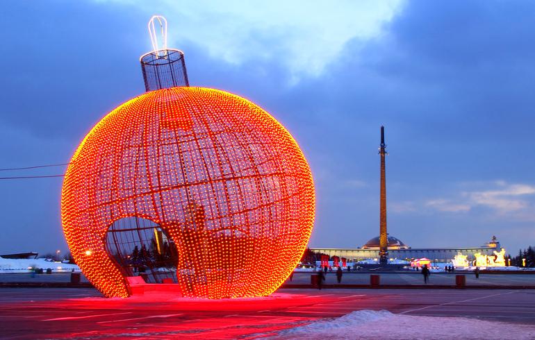 Новогодняя Москва. Парк Победы на Поклонной горе