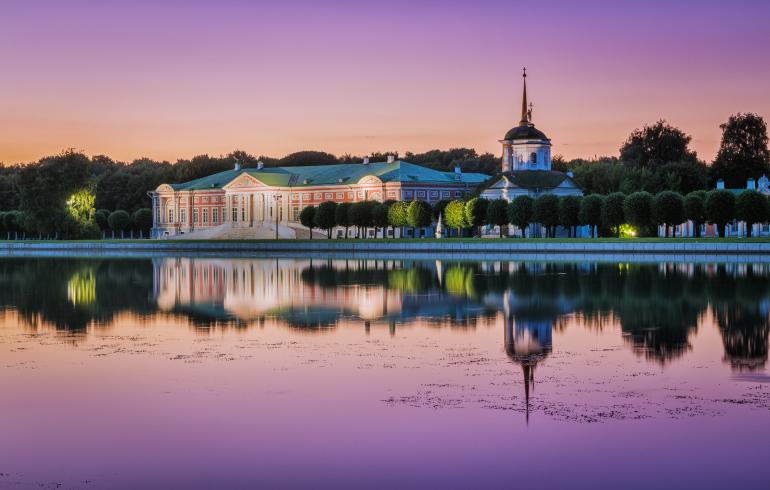 Большой Дворцовый пруд в усадьбе Кусково