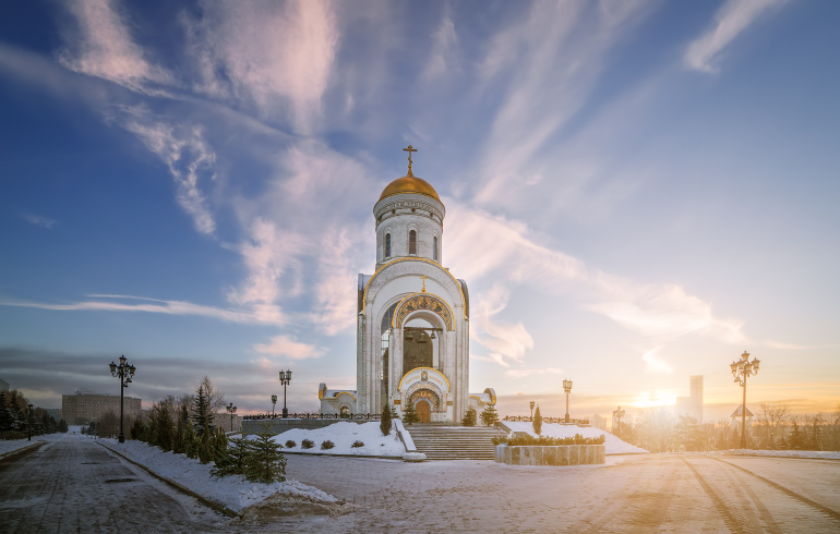 Храм Георгия Победоносца на Поклонной горе в Москве