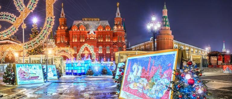 Автобусная экскурсия по новогодней Москве – «Огни новогодней Москвы». Новогодние инсталляции на Красной площади