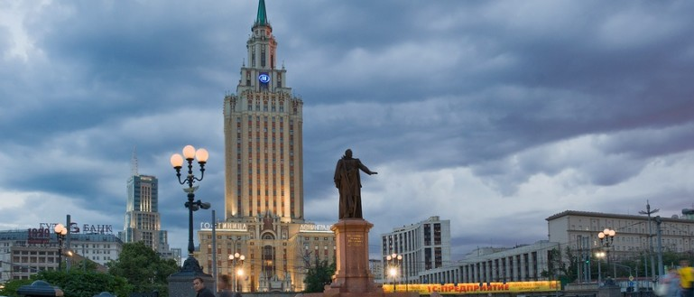 Автобусная экскурсия по сталинским высоткам в Москве. Гостиница «Ленинградская»