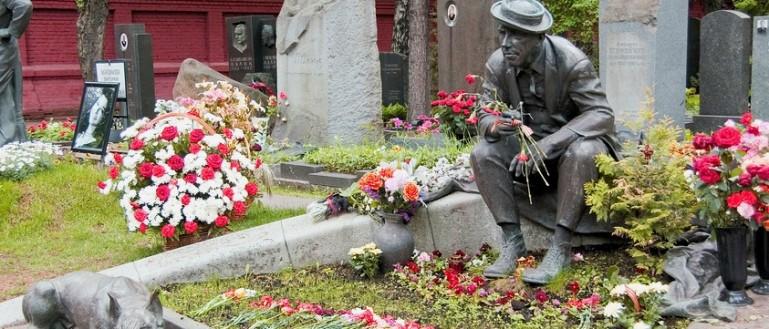 Пешеходная экскурсия по Новодевичьему кладбищу. Могила Юрия Никулина