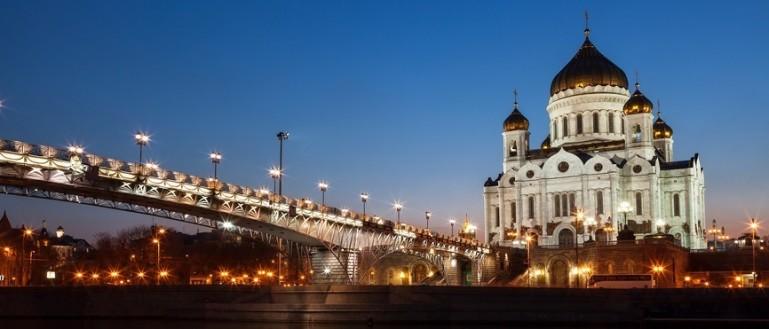 Автобусная экскурсия по ночной Москве – «Огни ночной Москвы». Храм Христа Спасителя и Патриарший мост